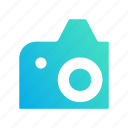 camera, design, gradient, image, photo icon