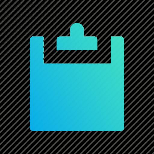 clipboard, copy, design, gradient, paste icon