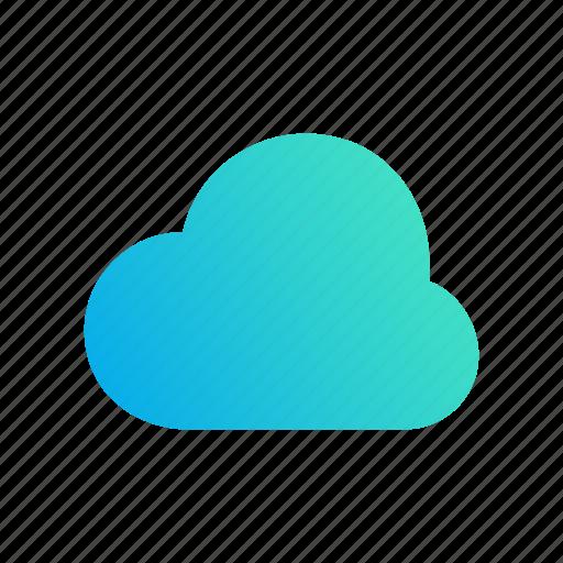 backup, cloud, design, gradient, safe icon