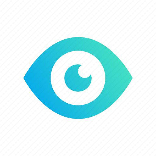 design, eye, gradient, see, visualize icon