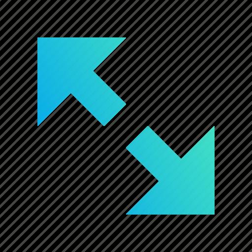 amplify, design, extend, fullscreen, gradient icon