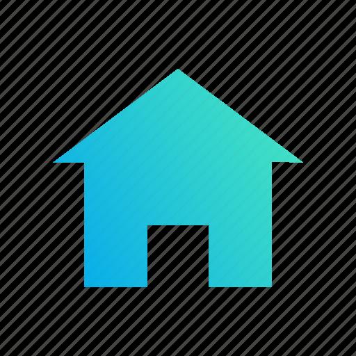 design, gradient, home, house, start icon