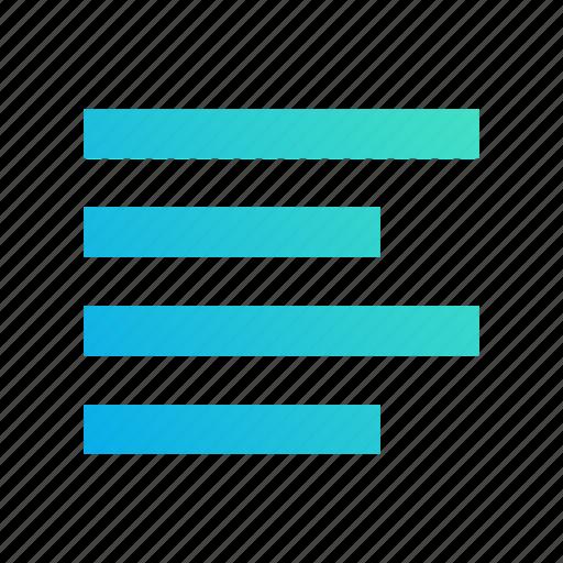 align, design, edit, gradient, left, text icon