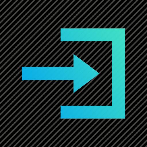 access, arrow, design, gradient, input, login, right icon