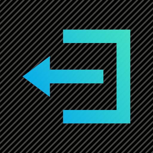arrow, design, get out, gradient, left, logout icon