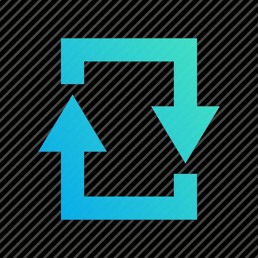 design, gradient, loop, refresh, reload icon
