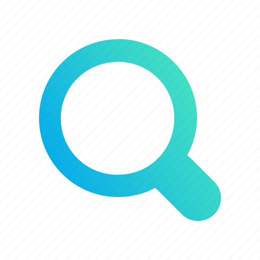 design, gradient, lens, magnifying, magnifying glass, search icon
