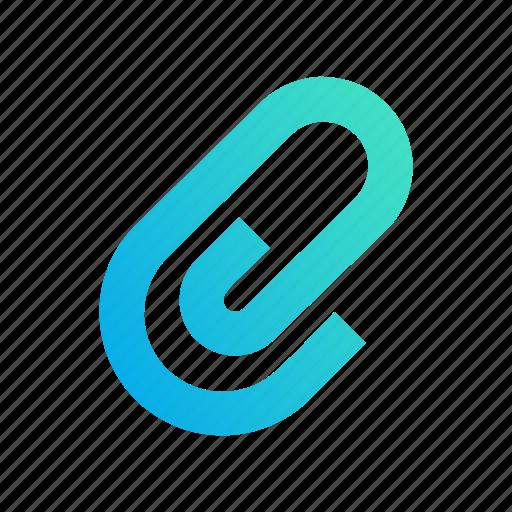 anchor, attach, clip, design, gradient, paperclip icon