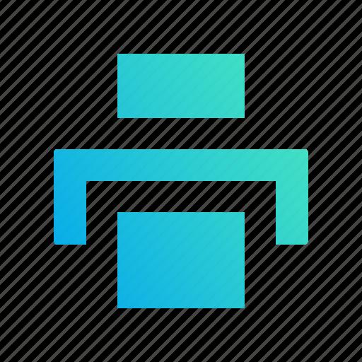 design, export, gradient, output, print icon