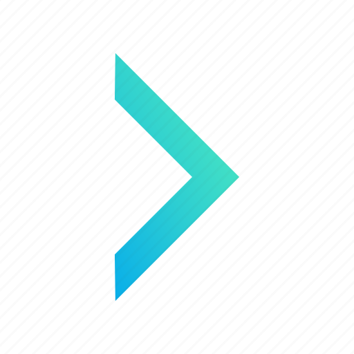 arrow, design, gradient, redo, right icon