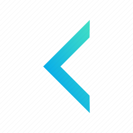 arrow, design, gradient, left, undo icon