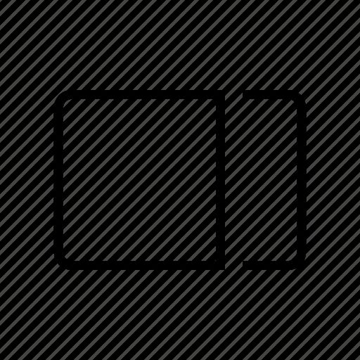 alignment, right, sidebar icon