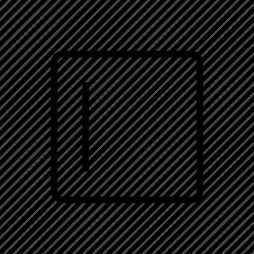 alignment, left, sidebar icon