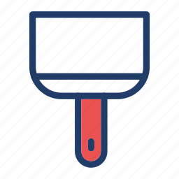 brush, color, paint, plunger icon