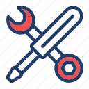fix, screwdriver, settings, tools icon