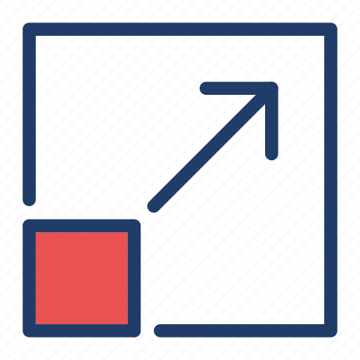 enlarge, full, maximize, screen icon