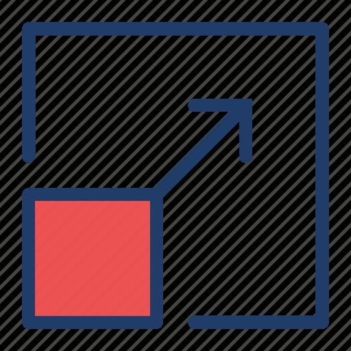expand, full, maximize, screen icon