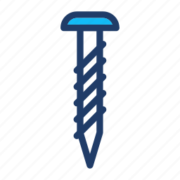 carpenter, nails, screw, tool icon