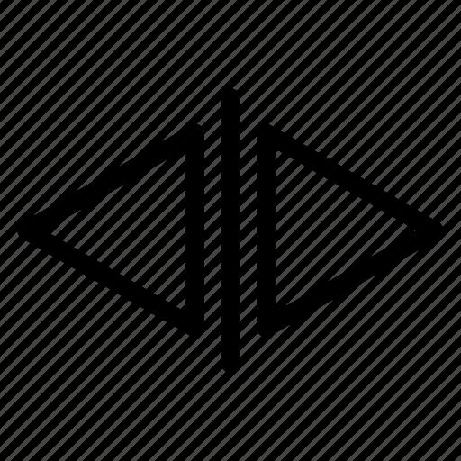 back, chevron, forward icon