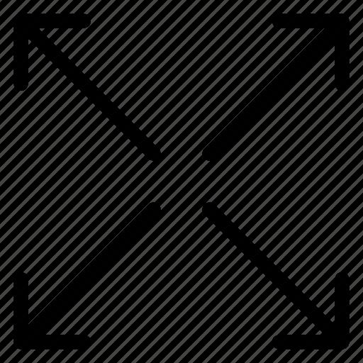 arrows, full, maximize, resize icon