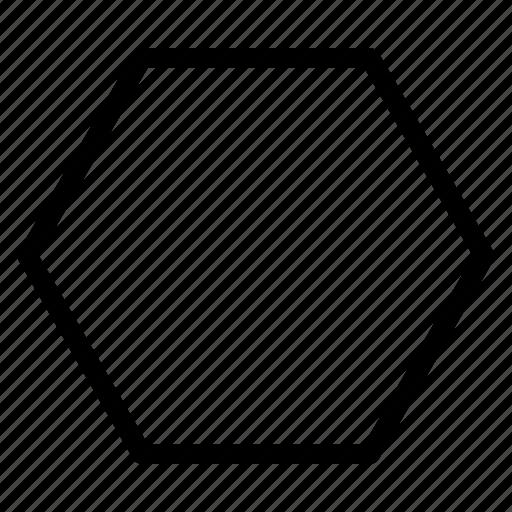 geometry, hexagon, outline, shape icon