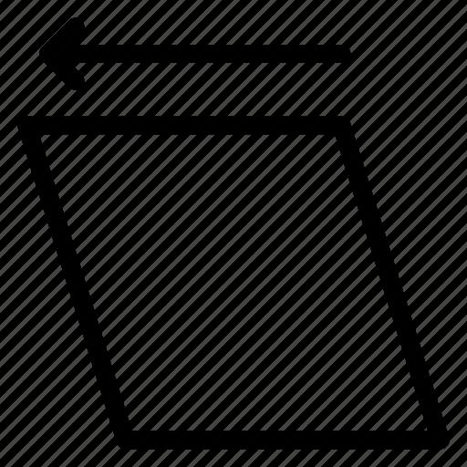 adjustment, left, rotation, screen icon