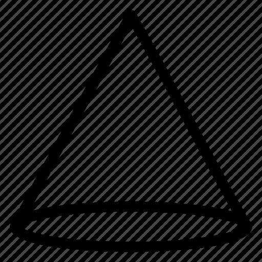 cone, design, geometry, shape icon