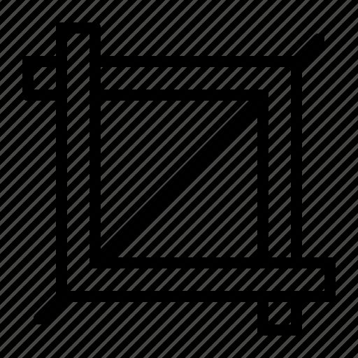 crop, design, edit, image, modify icon
