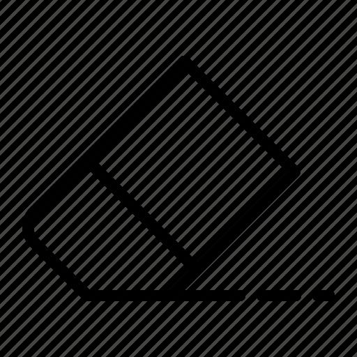 delete, erase, eraser, remove, tool icon