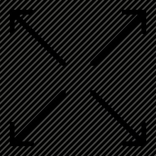 arrow, enlarge, scale, transform, up icon