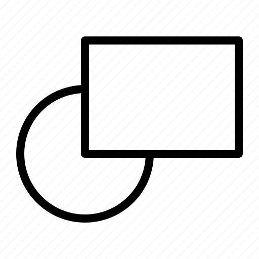 circle, design, rectangle, shapes, tool icon
