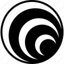 circles, containment, design, elements, principle, visual icon