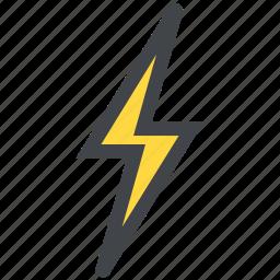 bolt, design, lightning icon
