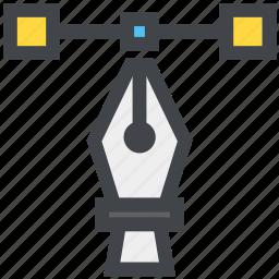 bezier, design, vector icon
