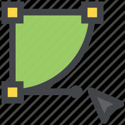 bezier, curve, design, vector icon