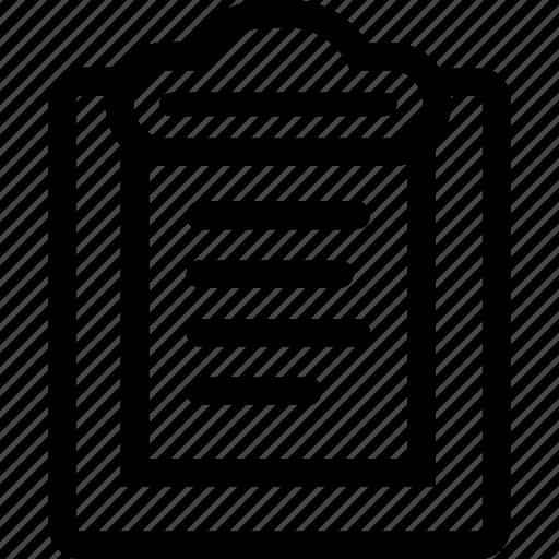 checklist, clipboard, data, design, documentation, notes icon