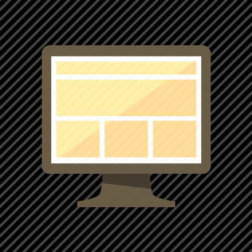 design, desktop, full width, layout, liquid, page, web icon