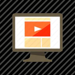 design, media, page, video, web icon