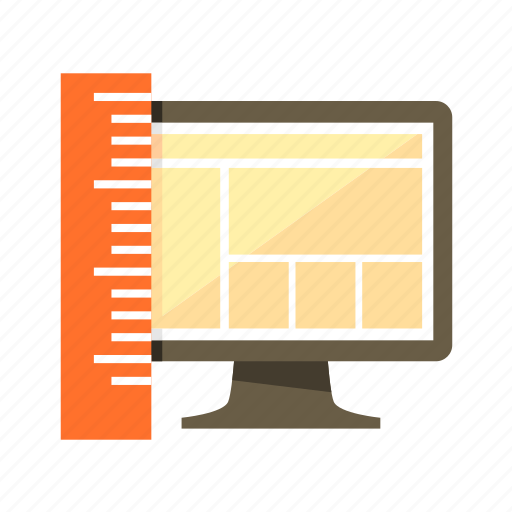 design, layout, measurement, scale, size, web icon
