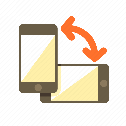 device, landscape, mobile, orientation, portrait icon