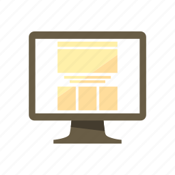 boxed, design, fixed, fixed width, layout, page, web icon