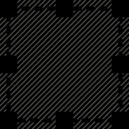 bounding, box, design, graphic, select, tool icon