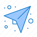 message, paper, plan, send icon