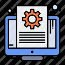 document, file, screen, setting