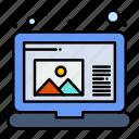 create, draw, laptop icon