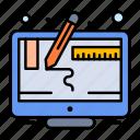 computer, design, graphic, screen