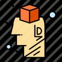 brain, brainstorming, design, idea icon