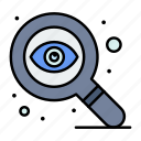 design, eye, search icon