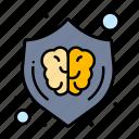 brain, creative, design, idea, shield