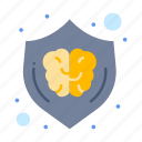 idea, brain, creative, design, shield